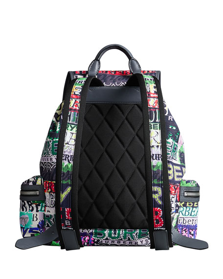 Men's Multicolor Logo Rucksack Backpack