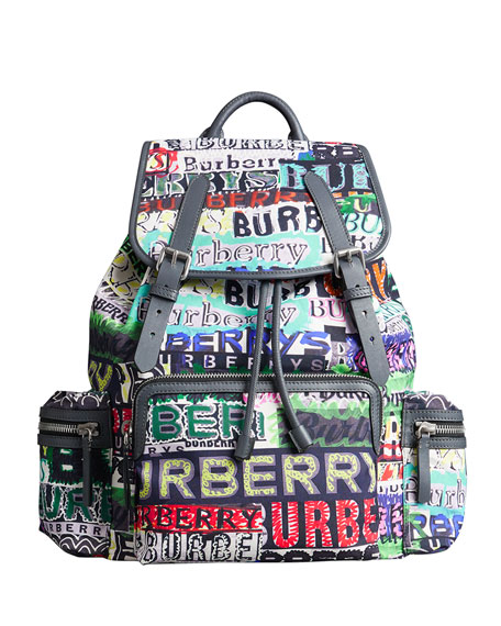 Burberry Men's Multicolor Logo Rucksack Backpack