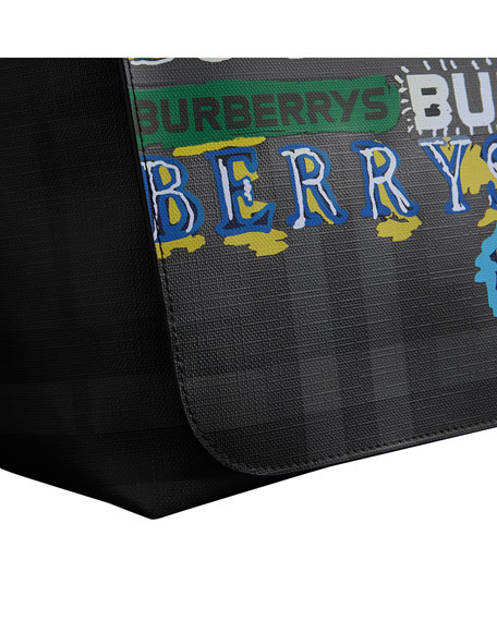 Men's Burleigh Logo-Graphic Check Messenger Bag