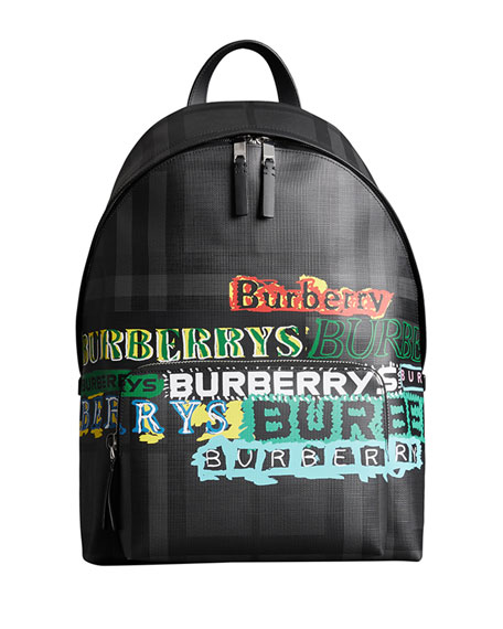 Burberry Men's Abbeydale Logo-Print Backpack