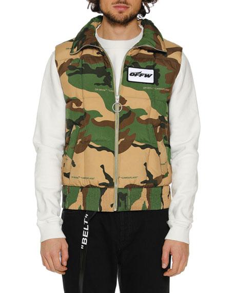 Men's Camouflage Zip-Front Quilted Vest