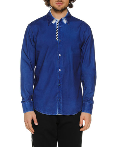 Men's Formal Denim Sport Shirt