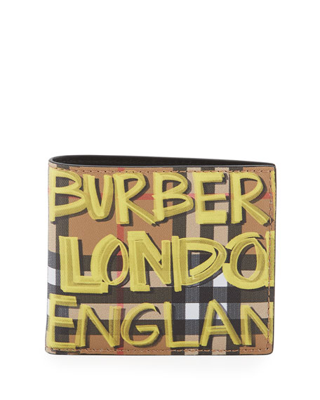Burberry Men's Vintage Check Marker Scribble Wallet