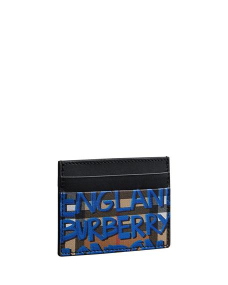 Men's Sandon Graphic-Print Card Case