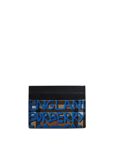 Men's Sandon Graphic-Print Card Case