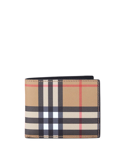 Men's Signature Check Bifold Wallet