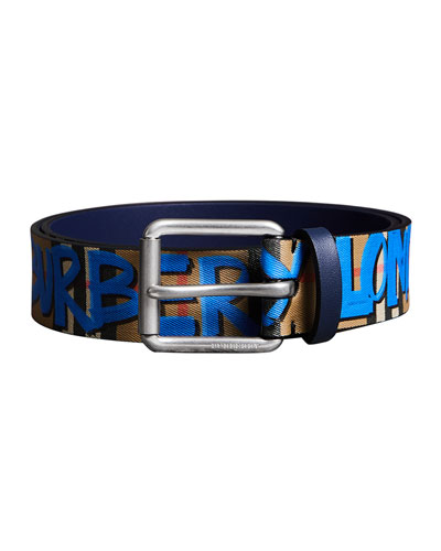 Men's Mark Graphic-Print Belt