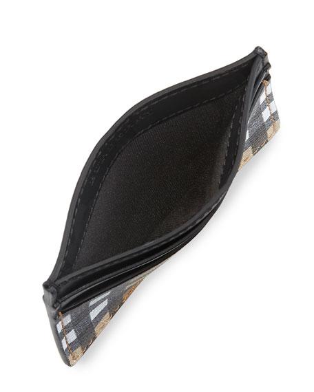 Men's Sandon Check Card Case