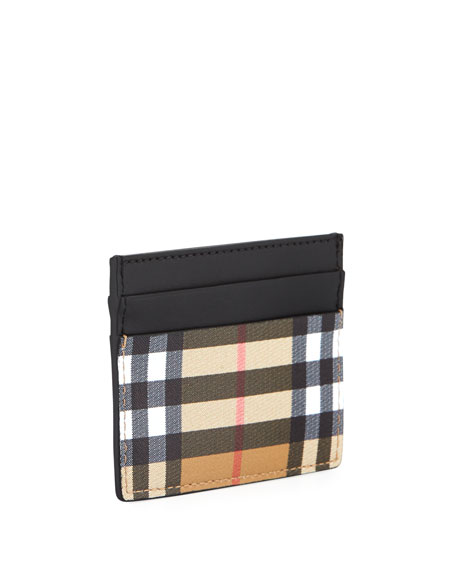 Men's Sandon Check Card Case