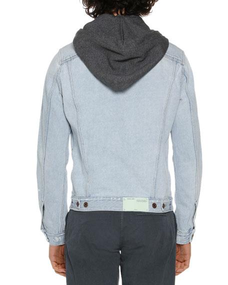 Men's Denim Hooded Jacket