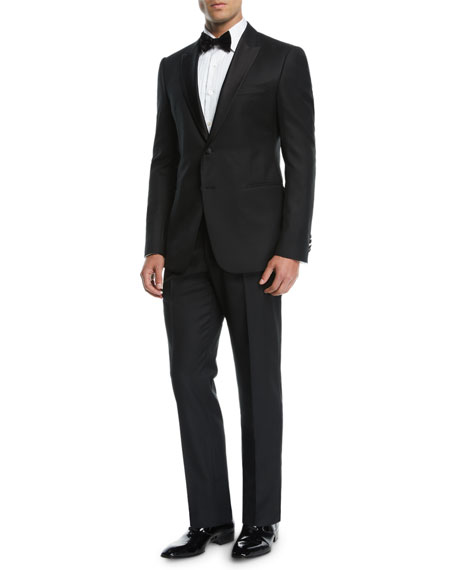 Emporio Armani Men's Wool Tonal Chevron Two-Piece Tuxedo
