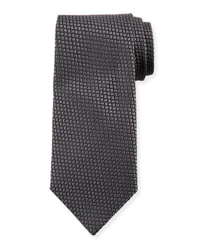 Square Silk Tie, Magnet Gray