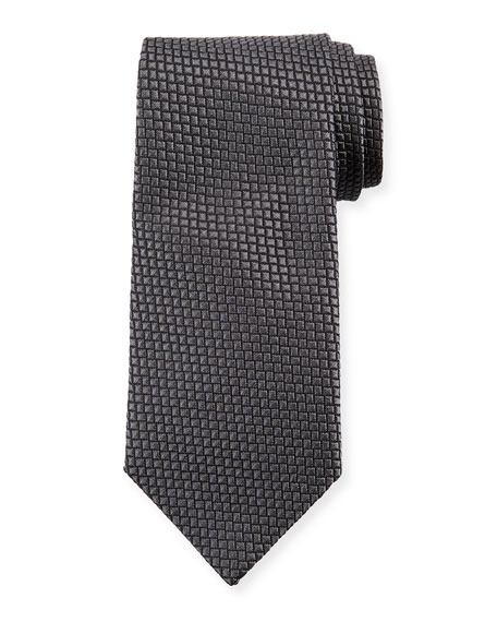 Square Silk Tie, Magnet Gray