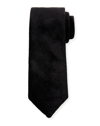 Solid Velvet Tie, Black