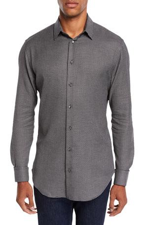 Giorgio Armani Men's Micro-Design Sport Shirt