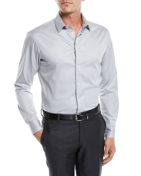 Giorgio Armani Men's Thin Stripe Sport Shirt
