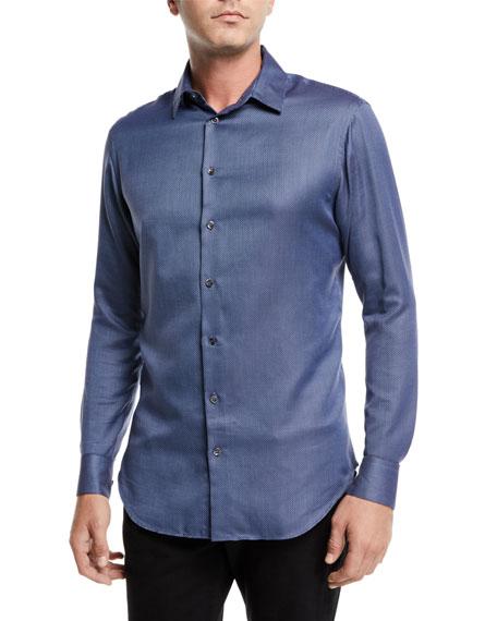 Giorgio Armani Men's Micro-Dot Sport Shirt