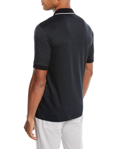 Men's Geo-Printed Polo Shirt