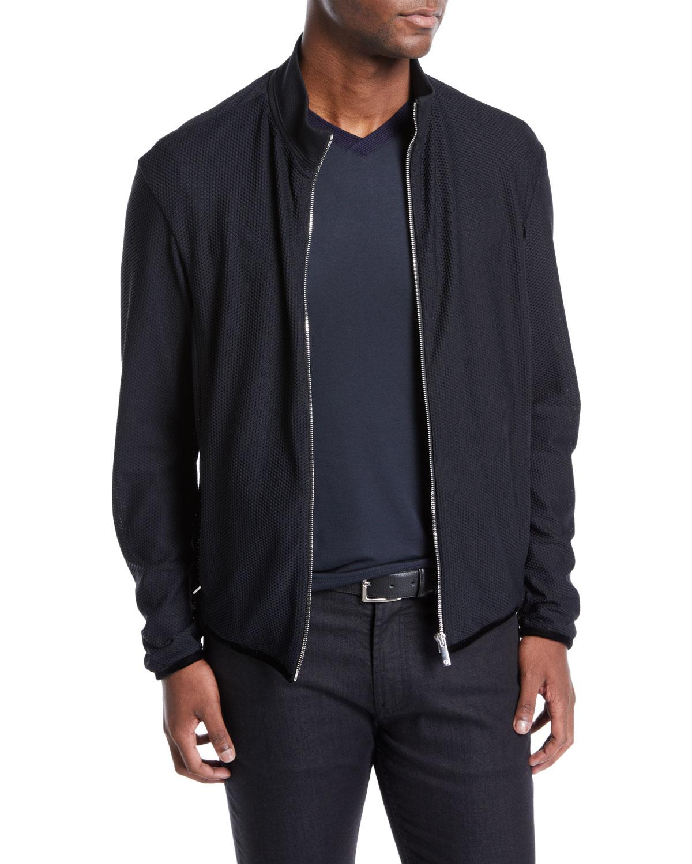 de7acd337dec Giorgio Armani Men s Honeycomb Blouson Jacket   Neiman Marcus