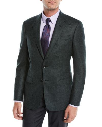 Men's Micro-Tile Wool Sport Coat Jacket
