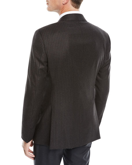 Men's Wool Melange Two-Button Sport Coat Jacket