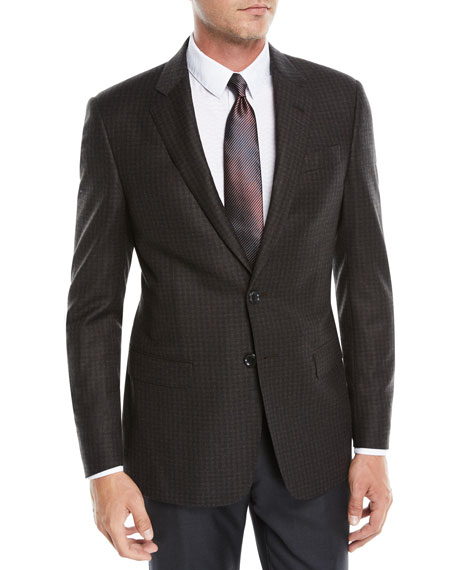 Giorgio Armani Men's Wool Melange Two-Button Sport Coat