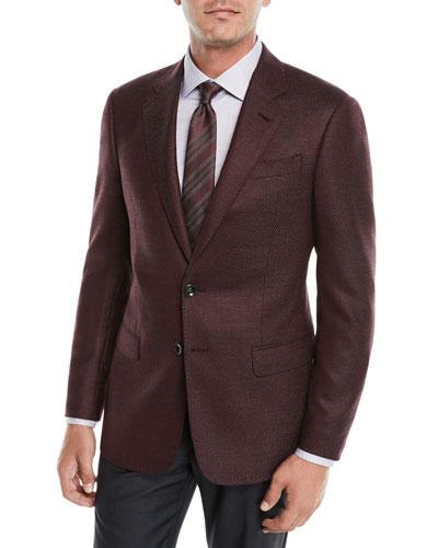 Men's Micro-Texture Wool Jacket