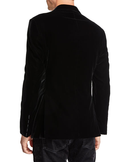 Men's Velvet Two-Button Jacket