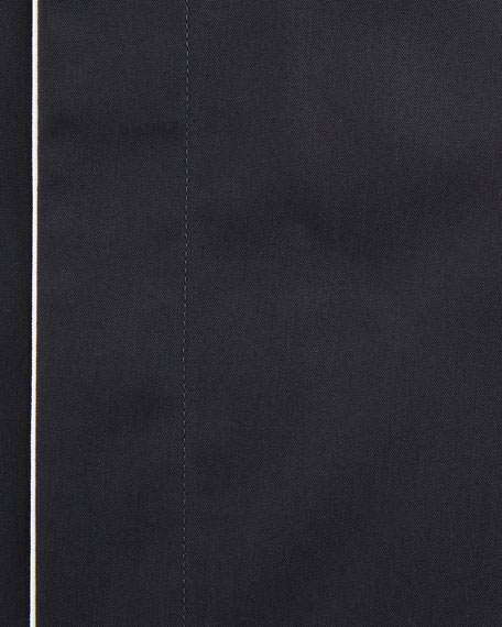 Men's Slim Fit Easy Iron Contrast-Piping Dress Shirt