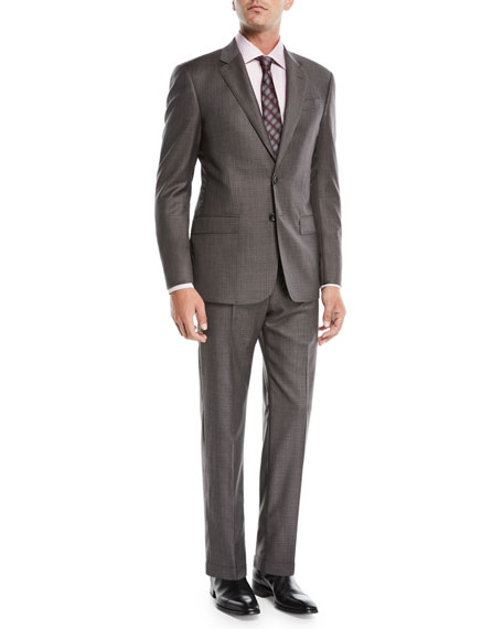 Men's Melange Two-Piece Wool Suit
