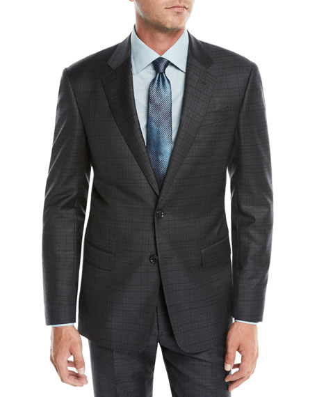 Giorgio Armani Men's Tonal Plaid Two-Piece Wool Suit