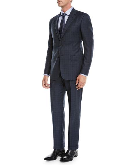 Men's Micro-Nailhead Two-Piece Wool Suit