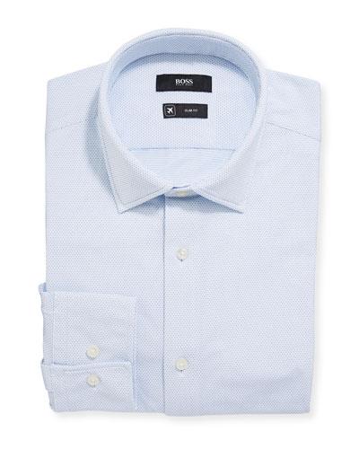 Men's Slim Fit Performance Stripe Dress Shirt