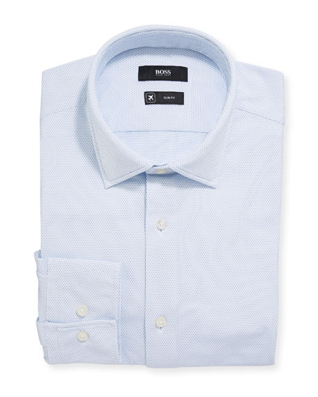 Men's Slim Fit Performance Stripe Dress Shirt