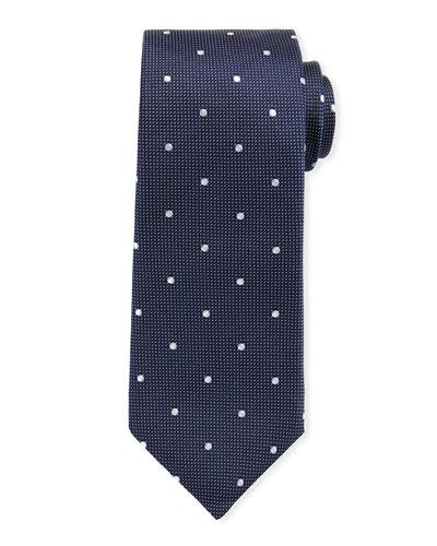 Men's Dotted Silk Tie