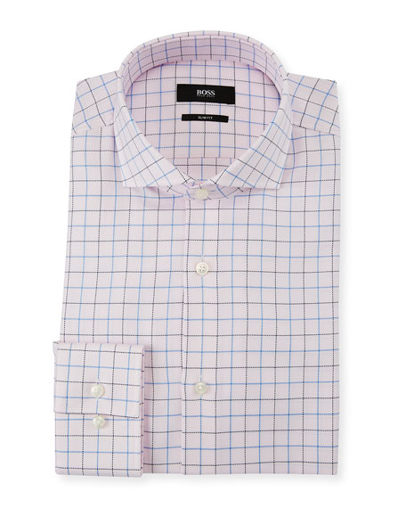 BOSS Men's Slim Fit Box Cotton Dress Shirt