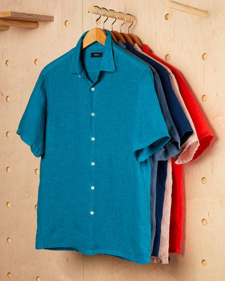 Men's Irving Summer Linen Short-Sleeve Sport Shirt