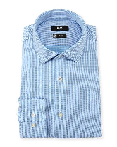 Men's Slim Fit Square Cotton Dress Shirt