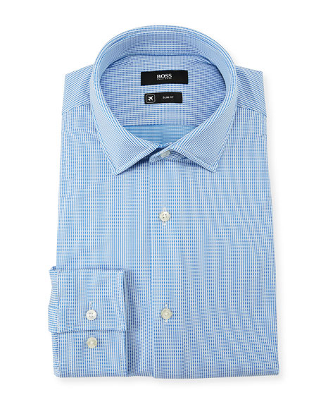 Men's Slim Fit Square Cotton Dress Shirt