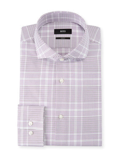 Men's Slim Fit Mixed Pattern Dress Shirt