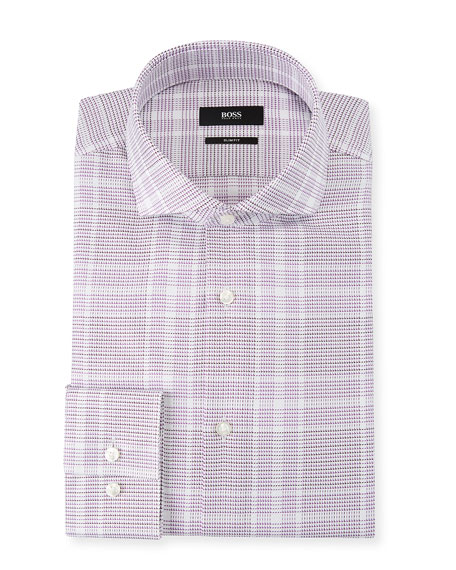 Men's Slim Fit Mixed Pattern Dress Shirt