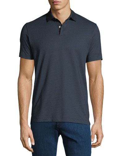 Men's Bayliss Jacquard Standard Polo Shirt