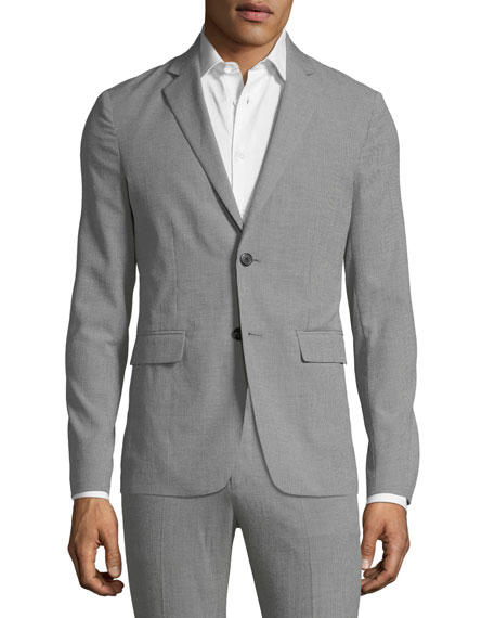 Men's Clinton Houndstooth Two-Button Jacket