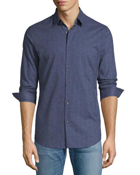 Men's Cedrick Speck-Print Sport Shirt