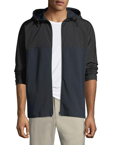 Theory Men's Caliber Terry Combo Tech Hoodie Jacket