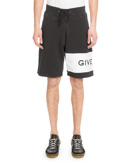 Men's Embroidered-Logo Cotton Shorts