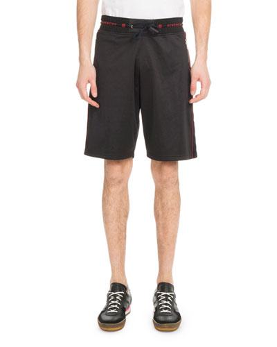Men's Velvet Piped Knit Shorts