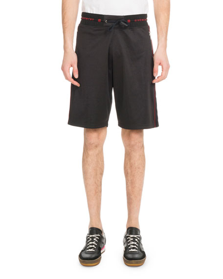 Men's Velvet Piped Knit Shorts