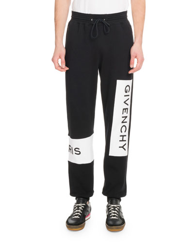 Men's Large Logo Basic Felpa Jogger Pants