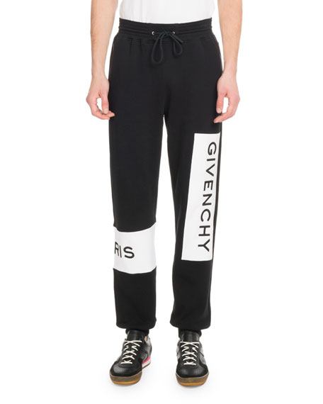 Givenchy Men's Large Logo Basic Felpa Jogger Pants